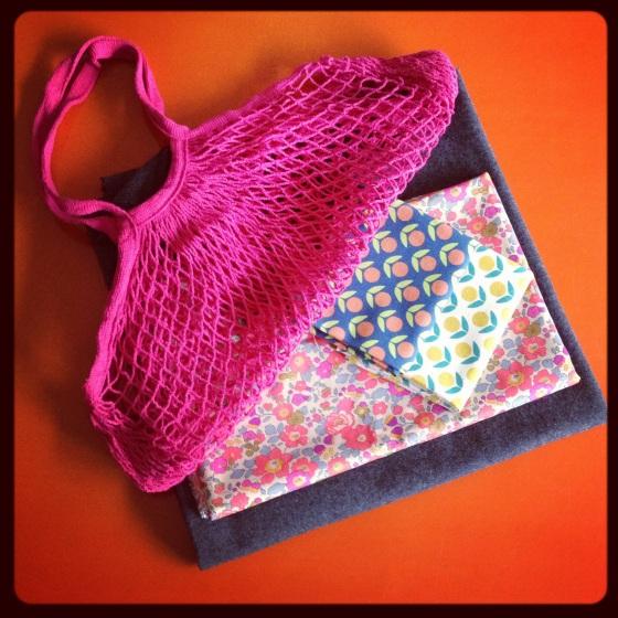 Liberty Betsy Fluo coupon tissu japonais kokka lainage gris FDS filet crochet Motifs personnels