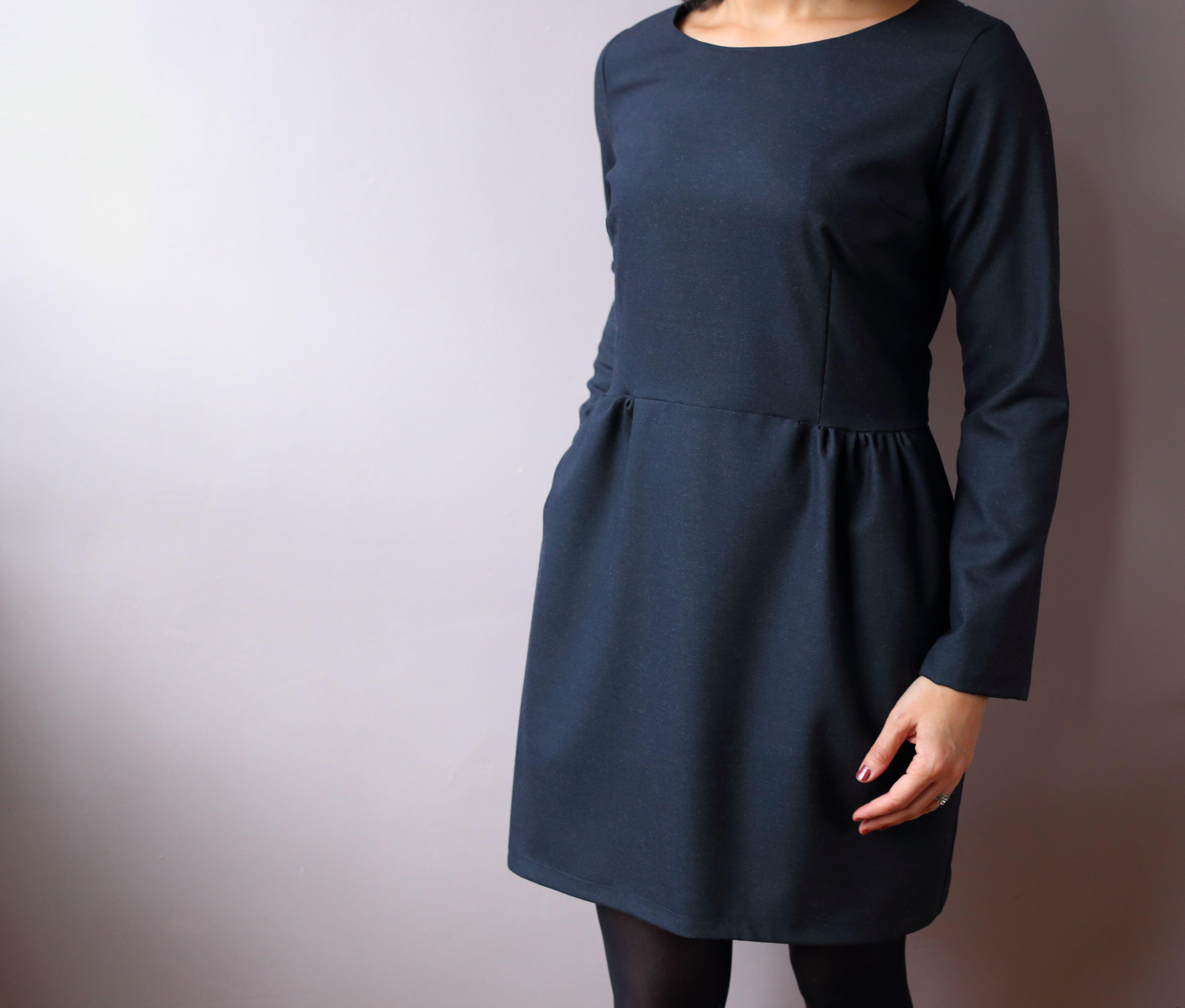 comment coudre une robe manche longue