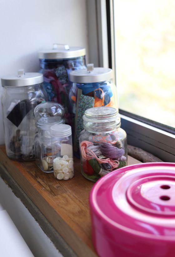 mes bocaux de boutons, biais, passepoils et autres petits objets