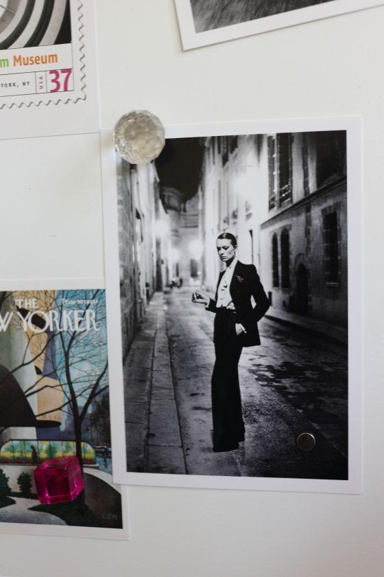 mon rêve, le tailleur YSL par Helmut Newton
