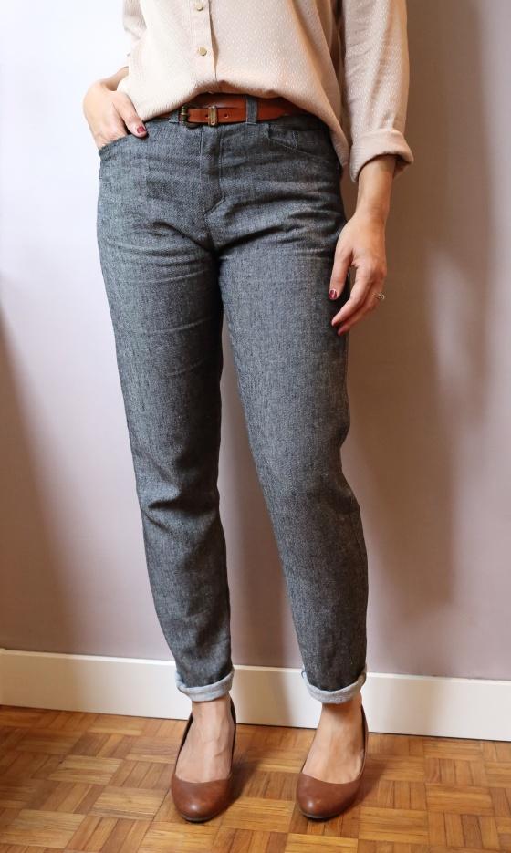 Wyome Boyfriend jean de Named pattern en denim léger gris/noir