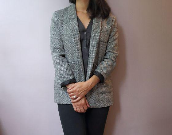 Michelle de République du Chiffon en lainage noir et blanc par le coussin du singe