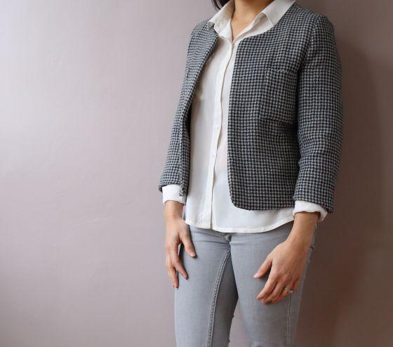 Veste coco Jacket de Schnittchen patterns par le coussin du singe