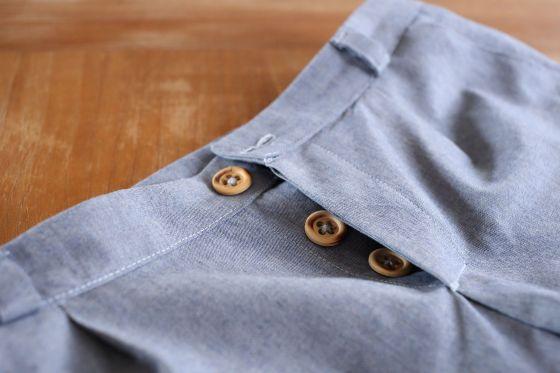 braguette pantalon Fusain de Blousette Rose- le coussin du singe