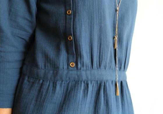 blouse ersatz des petits hauts en double gaze France Duval Stalla- coussin du singe